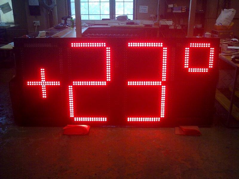 табло часы термометр