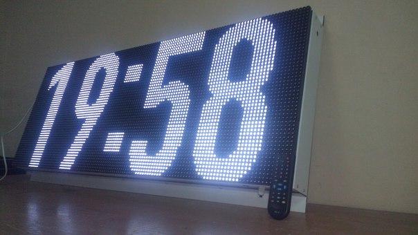 Часы-термометр 1280х480 мм